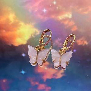 Jewelry - White butterfly earrings